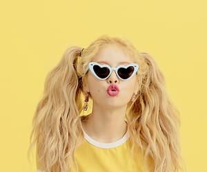 kpop, hyuna, and yellow image
