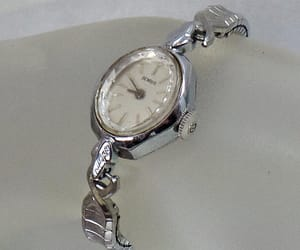 costume jewelry, mechanical watch, and etsy image