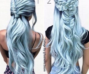 cheveux, lisse, and Bleu image