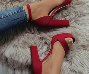 red, shoes, and fashion image