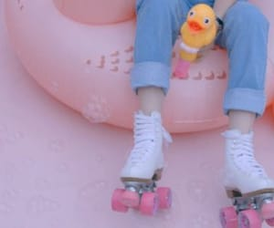 pink, duck, and pastel image