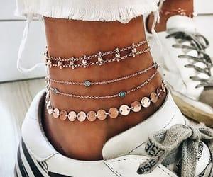 fashion, style, and ankle bracelets image
