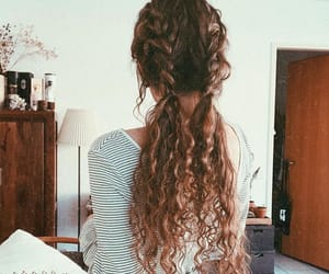 cheveux, lisse, and tresse image