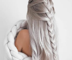 fashion, withe, and haire image