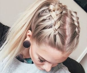 fashion, ponytail, and haire image