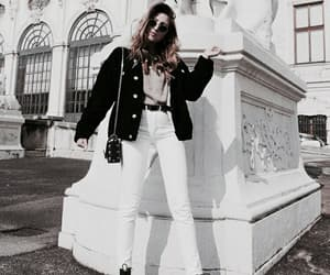 inspo, style, and white jeans image