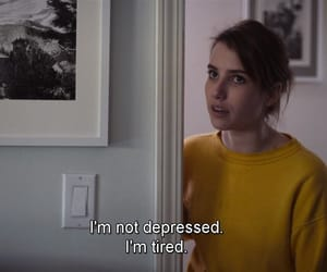 actress, emma roberts, and depressed image