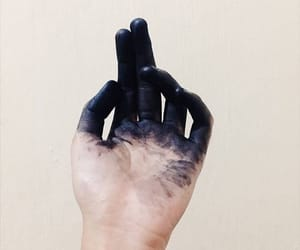 art, paint, and black image