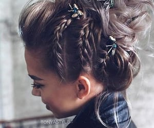 fashion, tresse, and haire image