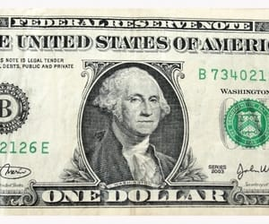 George Washington, usa, and one dollar bill image