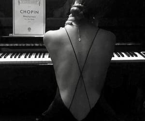 black, girl, and piano image