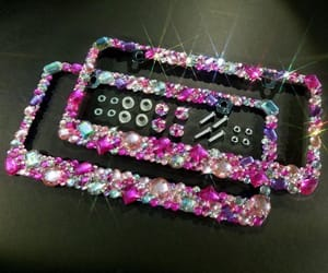 bling, car, and license plate image