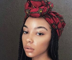 beauty, headwrap, and natural hair image