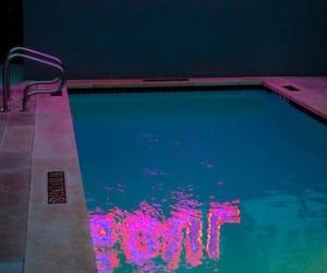 beach, flash, and pool image