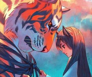 tiger, anime, and art image