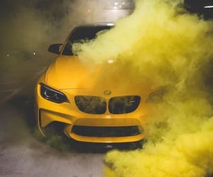 bmw, car, and yellow image