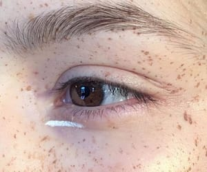 freckles, eye, and makeup image