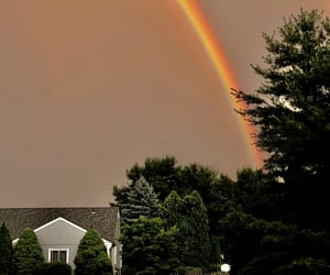 colorful, rainstorm, and skies image