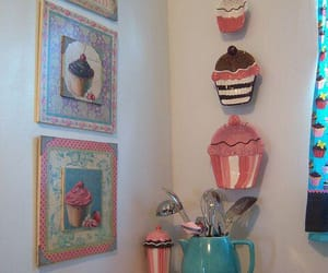 cupcake, home decor, and pastel image