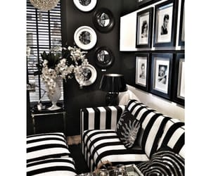 black, black and white, and home decor image