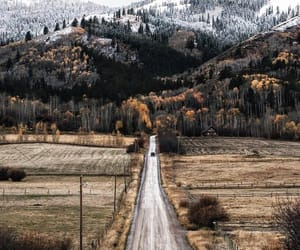 autumn, mountains, and road image
