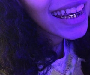 purple, grillz, and gold image