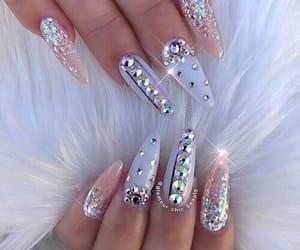 nails, diamond, and beauty image