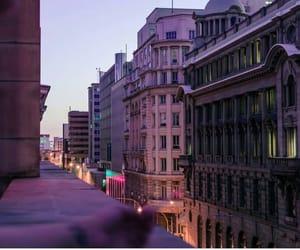 city, photo, and purple image