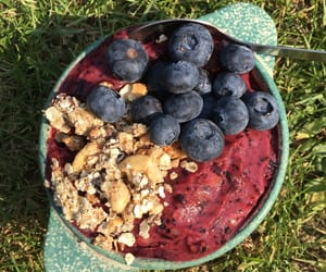 blueberry, bowls, and food image
