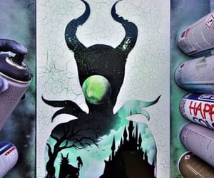 castle, paint, and maleficent image