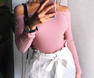 casual, pink, and ootd image
