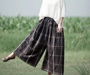 black pants, vintage pants, and leisure pants image