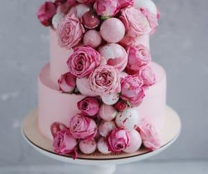 birthday cake, cake, and peonies image