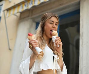 beauty, ice cream, and girl image