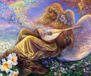 art, flowers, and music image