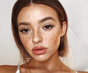 freckles, girl, and makeup image