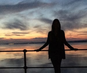 colors, evening, and girl image