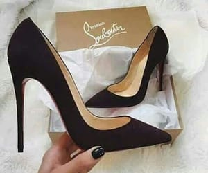black, chaussures, and louboutin image