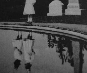 black and white, ghost, and creepy image