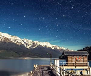 stars, sky, and landscape image