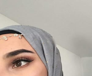 aesthetics, eyebrows, and islam image