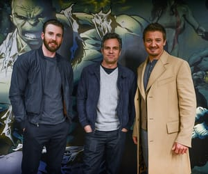 chris evans, mark rufallo, and jeremy renner image