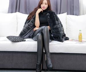 black leggings, royal, and fur image