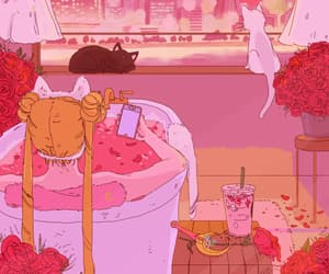 aesthetic, anime flowers, and sailor moon gifs image