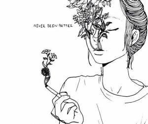 art, flowers, and smoke image