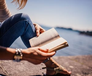 book, girl, and good image
