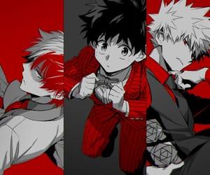 boku no hero academia, midoriya, and todoroki image
