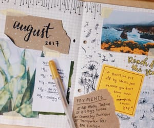 August, journal, and study image