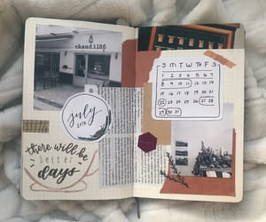 journal, july, and study image