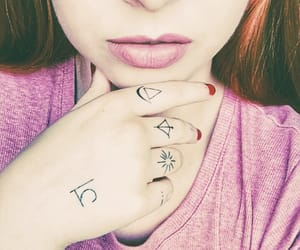 beautiful eyes, ginger, and hand tattoo image